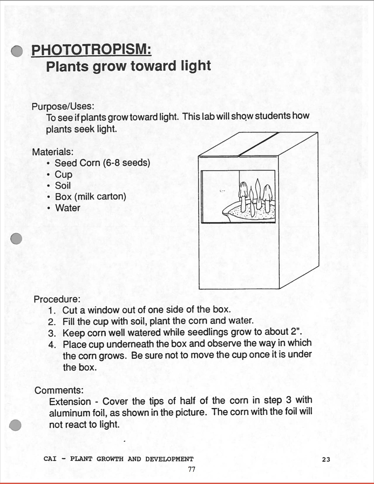 Free Worksheet Horticulture Worksheets high school horticulture curriculum by margaret maratsos phototropism jpg