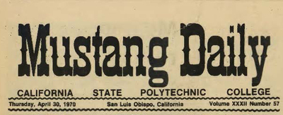 Explore 100 years of Cal Poly's student newspaper!