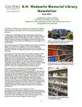 E. H. Wadewitz Memorial Library Newsletter