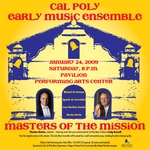 Early Music Ensemble concert flyer by Music Department - California Polytechnic State University - San Luis Obispo