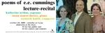 Poems of E.E. Cummings Lecture-Recital flyer by Music Department - California Polytechnic State University - San Luis Obispo
