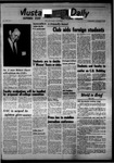 Mustang Daily, October 11, 1967