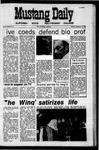 Mustang Daily, November 10, 1970