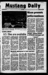 Mustang Daily, October 22, 1971