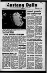 Mustang Daily, October 10, 1972