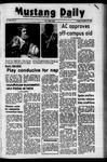 Mustang Daily, November 10, 1972