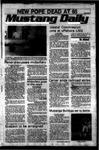 Mustang Daily, September 29, 1978