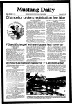 Mustang Daily, November 6, 1981