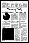 Mustang Daily, November 10, 1981