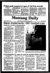 Mustang Daily, December 2, 1981