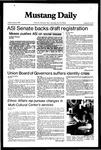 Mustang Daily, October 8, 1982