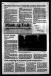 Mustang Daily, March 29, 1984