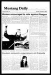Mustang Daily, October 29, 1984