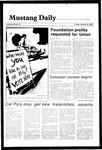 Mustang Daily, January 25, 1985