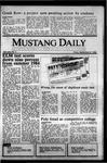 Mustang Daily, September 27, 1985
