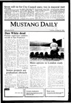 Mustang Daily, October 22, 1985