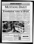 Mustang Daily, September 29, 1986