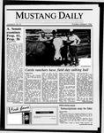 Mustang Daily, October 9, 1986