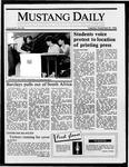 Mustang Daily, November 25, 1986