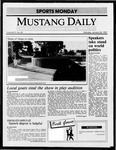 Mustang Daily, January 26, 1987