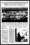 Mustang Daily, November 5, 1987