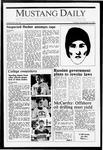 Mustang Daily, November 10, 1987