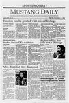 Mustang Daily, November 14, 1988