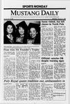 Mustang Daily, January 9, 1989
