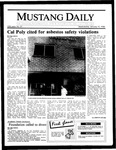 Mustang Daily, January 15, 1986