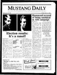 Mustang Daily, April 18, 1986