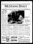 Mustang Daily, May 16, 1986