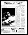 Mustang Daily, May 28, 1986