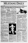 Mustang Daily, April 7, 1989