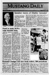 Mustang Daily, April 14, 1989