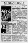 Mustang Daily, May 18, 1989