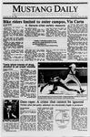 Mustang Daily, May 25, 1989