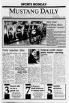 Mustang Daily, September 25, 1989
