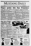 Mustang Daily, October 18, 1989