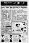 Mustang Daily, October 19, 1989
