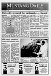 Mustang Daily, October 20, 1989