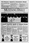 Mustang Daily, November 3, 1989