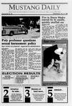 Mustang Daily, November 8, 1989