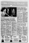 Mustang Daily, November 29, 1989