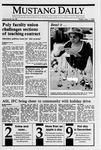 Mustang Daily, December 1, 1989
