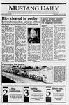 Mustang Daily, January 22, 1990