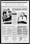 Mustang Daily, November 6, 1990
