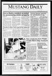 Mustang Daily, May 8, 1991
