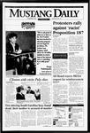 Mustang Daily, November 4, 1994
