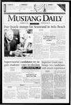 Mustang Daily, October 29, 1996