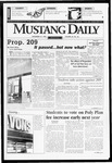 Mustang Daily, November 18, 1996